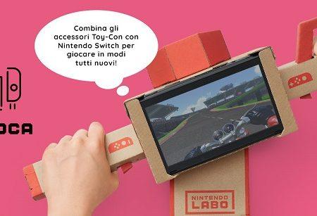 Nintendo Labo, la tecnologia incontra il cartone