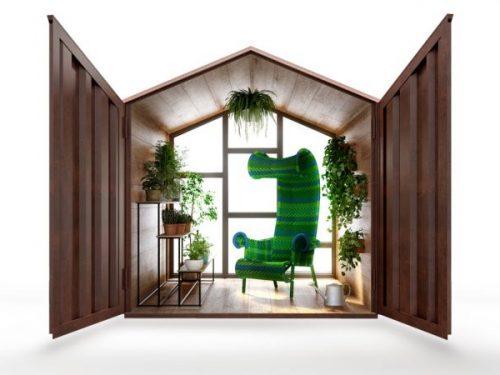La stanza che non c'è (ma è così reale…) creata con il corten
